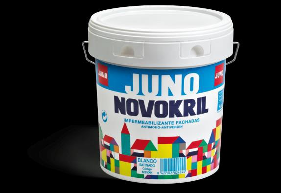 NOVOKRIL SATIN - pusmatēta fasādes krāsa